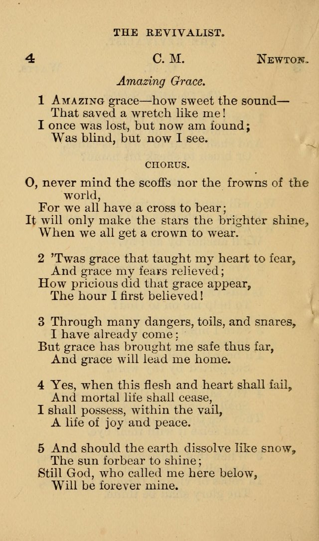The Revivalist: Containing One Hundred Choice Revival Hymns, and One Hundred and Twenty-five Choruses: Designed for Use On Revival Occasions. (1st ed) page 8