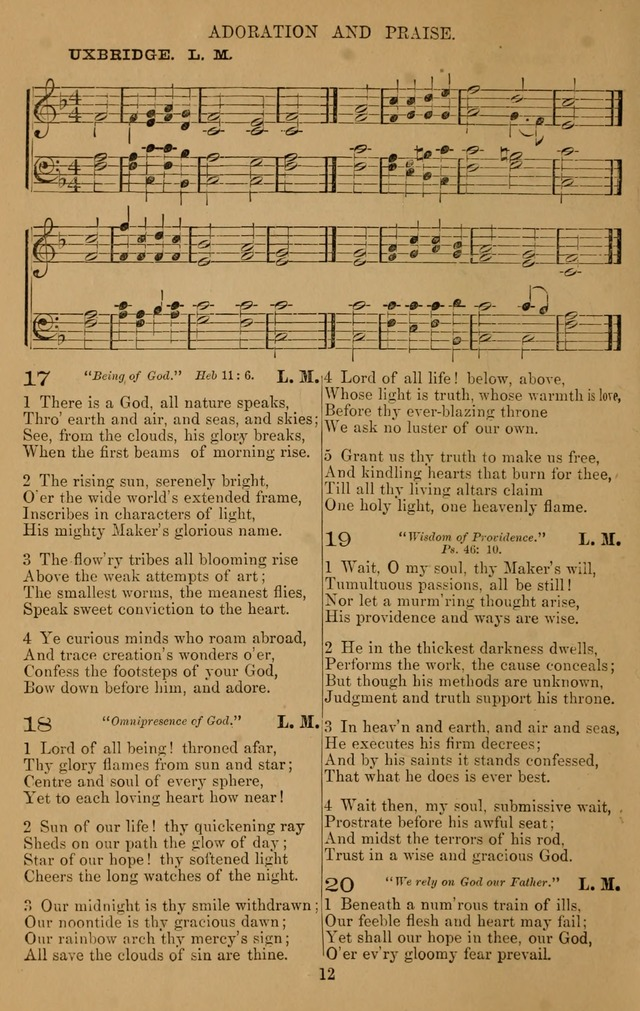 The Reformed Church Hymnal: with tunes page 12