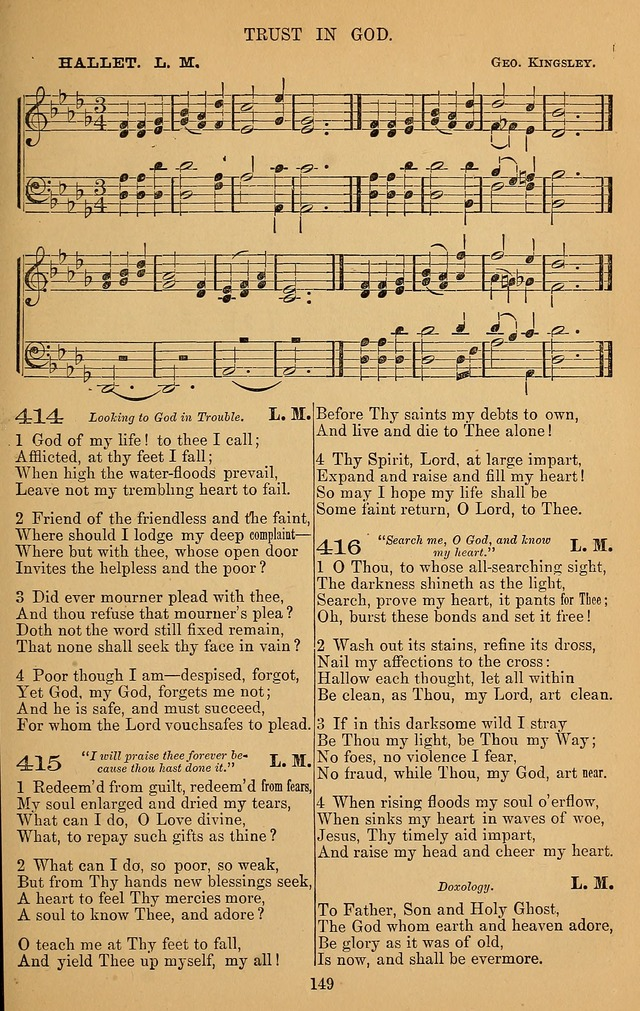 The Reformed Church Hymnal: with tunes page 149