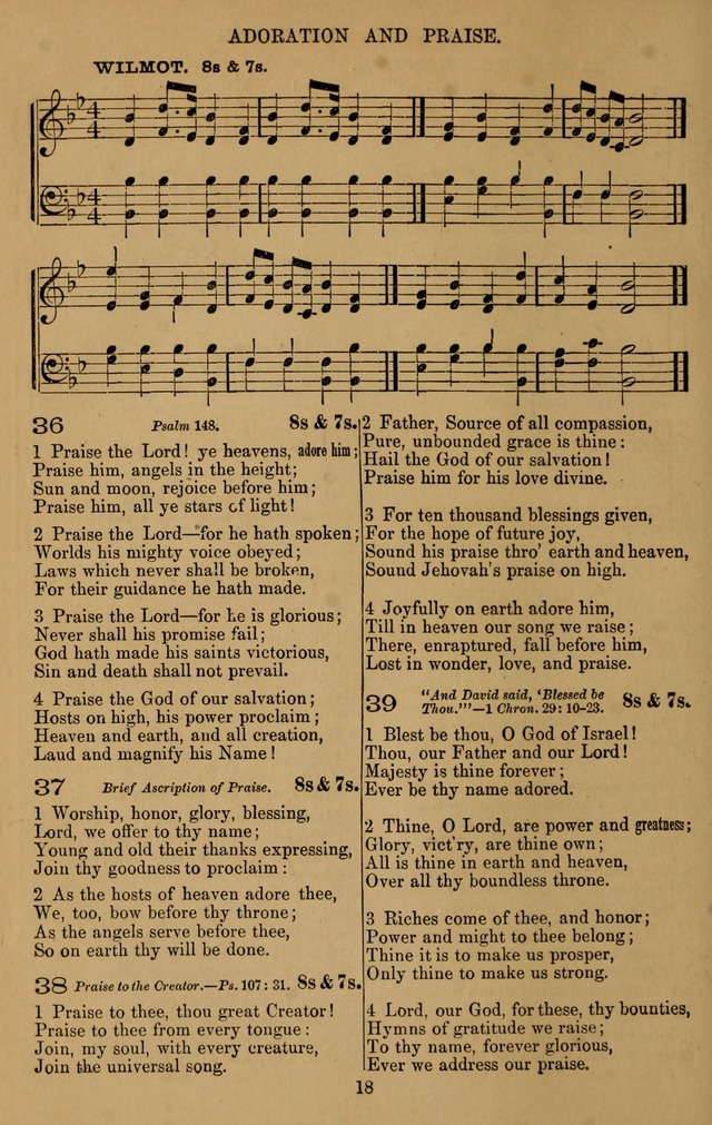 The Reformed Church Hymnal: with tunes page 18