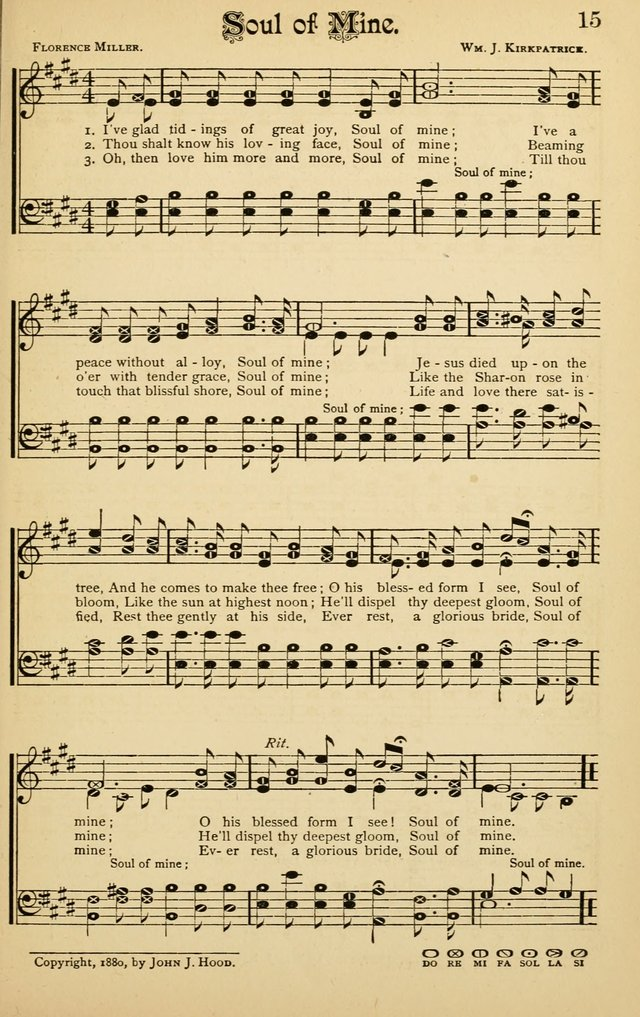 The Royal Fountain No.3: sacred songs and hymns for use in Sabbath-school or prayer meeting page 15