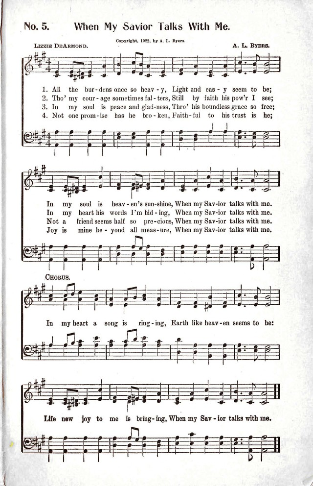 Reformation Glory: a new and inspiring collection of gospel hymns for evangelistic services page 5