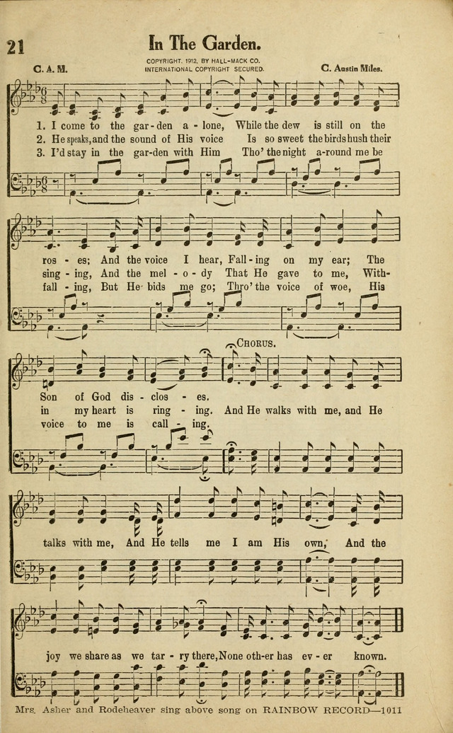 Rodeheaver's Gospel Songs for church, Sunday Schools and