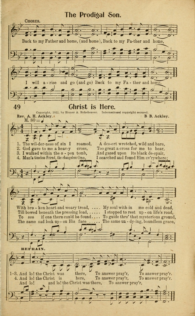 Lyric prodigal son song lyrics : Rodeheaver's Gospel Songs for church, Sunday Schools and ...