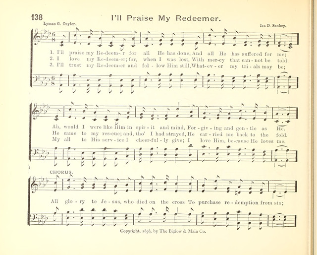 Royal Hymnal: for the Sunday School page 137