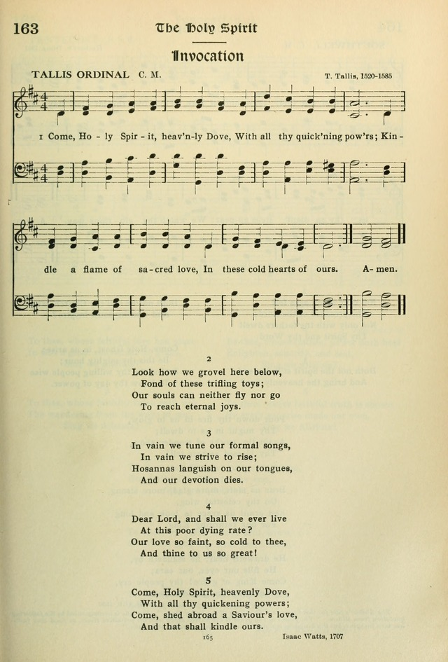 The Riverdale Hymn Book 163  Come, Holy Spirit, heavenly
