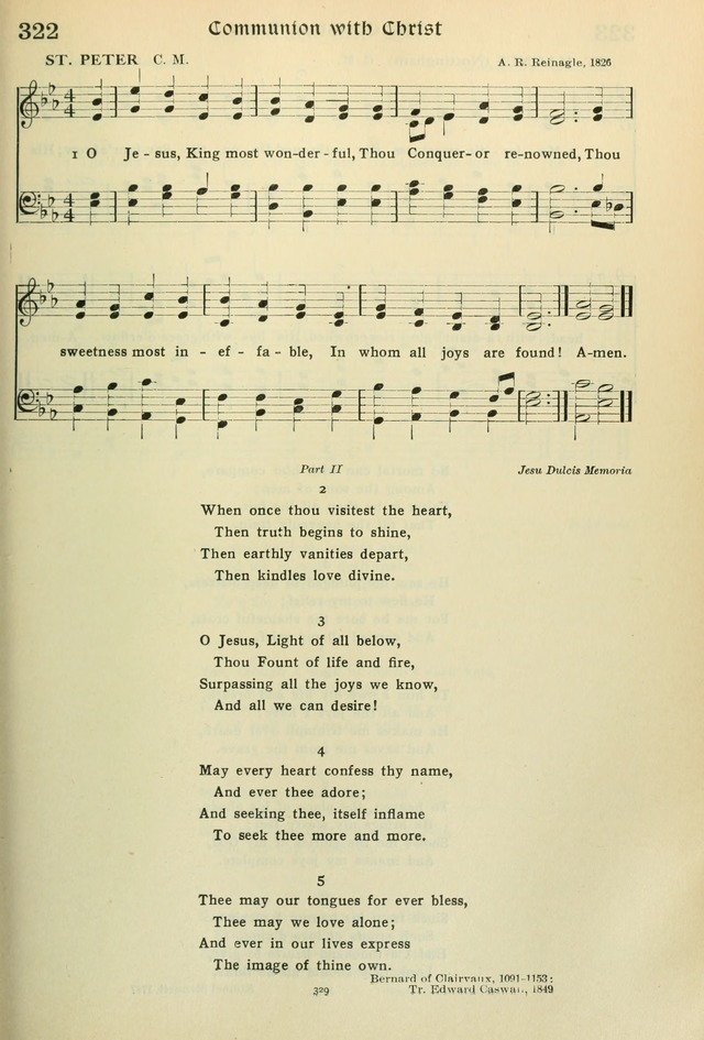 The Riverdale Hymn Book 322  O Jesus, King most wonderful