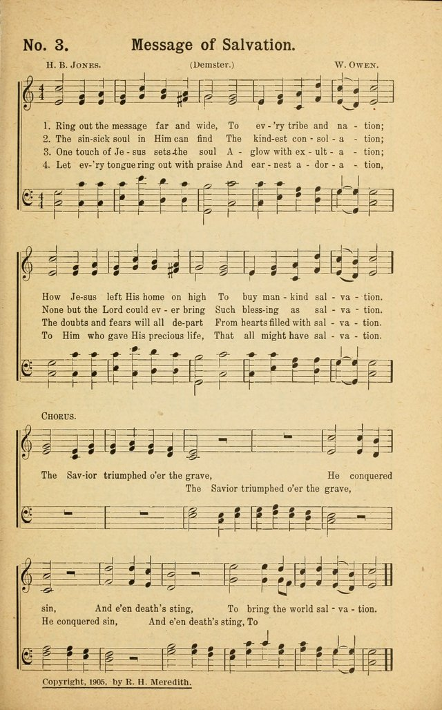 Revival Melodies: containing the popular Welsh tunes used in the great revivail in Wales; also a choice selection of gospel songs specially adapted for evangelistic and devotional meetings  page 3