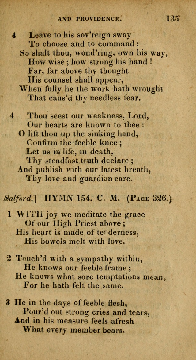 The Reformed Methodist Pocket Hymnal: Revised: collected from various authors. Designed for the worship of God in all Christian churches. page 135