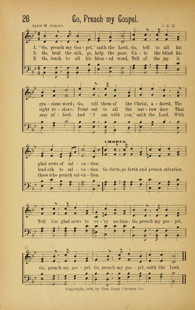 Royal Praise for the Sunday School: a collection of new and selected gospel songs. With a clear and concise course of instruction in the elements of music page 25