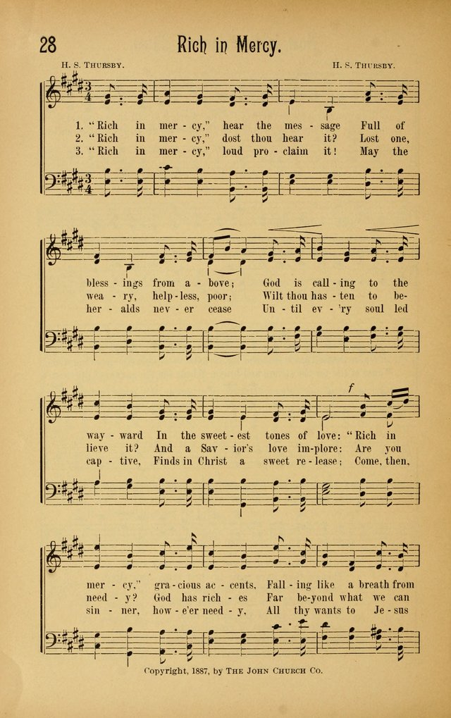 Royal Praise for the Sunday School: a collection of new and selected gospel songs. With a clear and concise course of instruction in the elements of music page 27