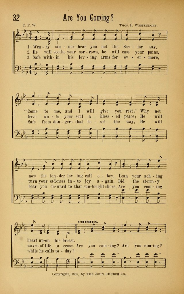 Royal Praise for the Sunday School: a collection of new and selected gospel songs. With a clear and concise course of instruction in the elements of music page 31