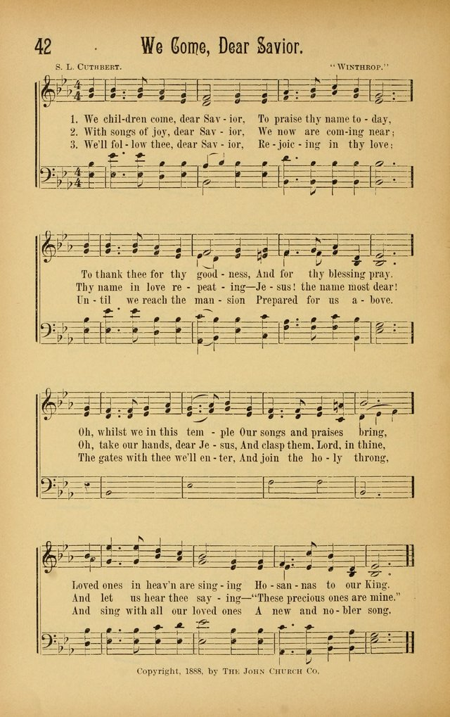 Royal Praise for the Sunday School: a collection of new and selected gospel songs. With a clear and concise course of instruction in the elements of music page 41