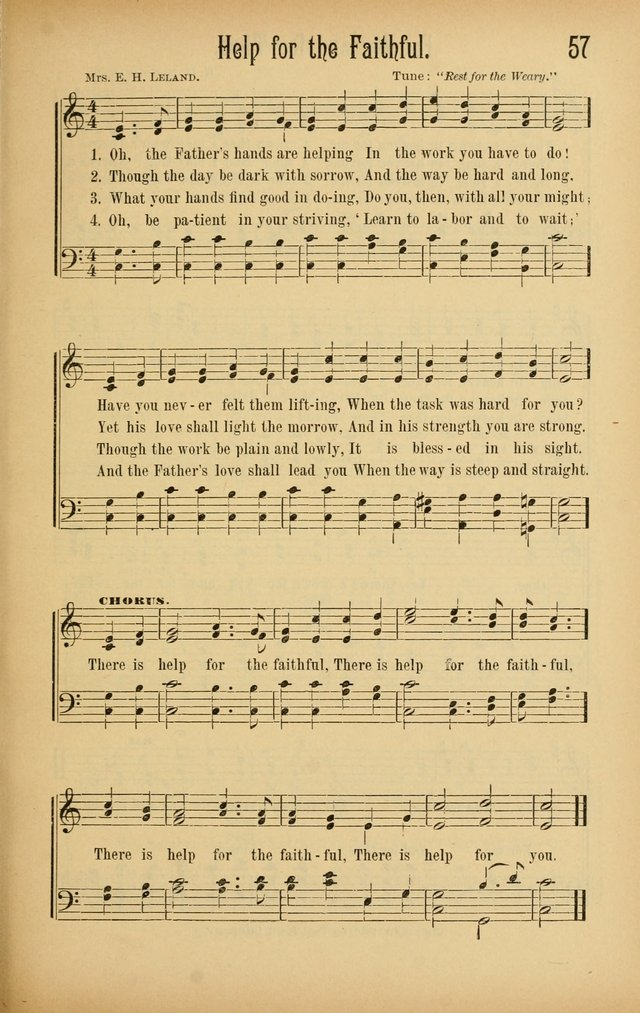 Royal Praise for the Sunday School: a collection of new and selected gospel songs. With a clear and concise course of instruction in the elements of music page 56