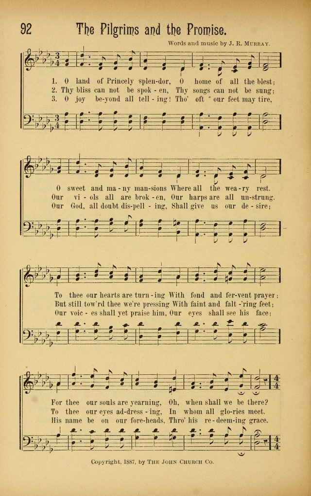 Royal Praise for the Sunday School: a collection of new and selected gospel songs. With a clear and concise course of instruction in the elements of music page 91