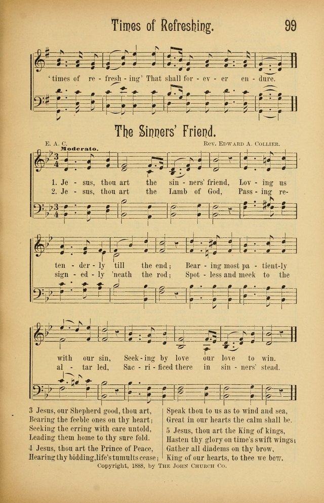 Royal Praise for the Sunday School: a collection of new and selected gospel songs. With a clear and concise course of instruction in the elements of music page 98