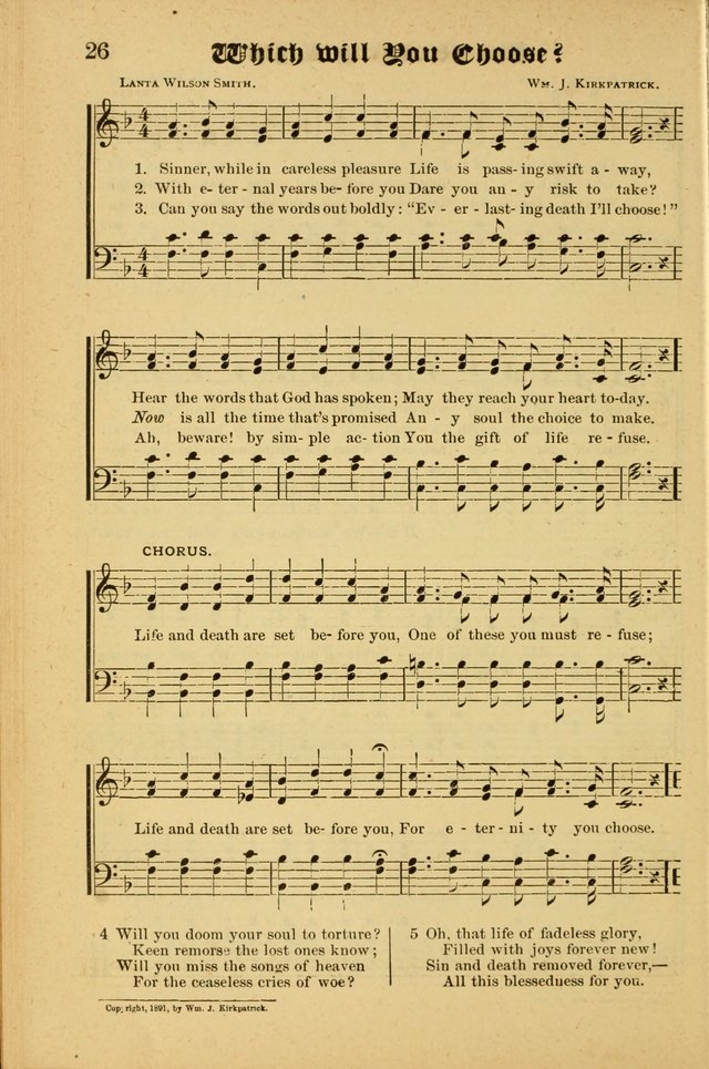 Radiant Songs: for use in meetings for Christian worship or work page 26