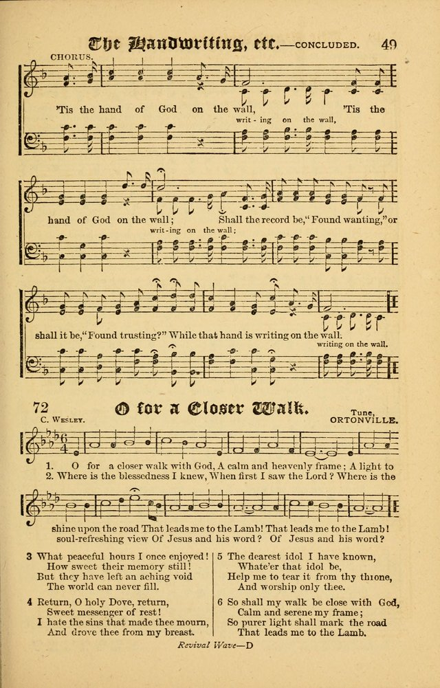 The Revival Wave: A Book of Revival Hymns and Music page 49