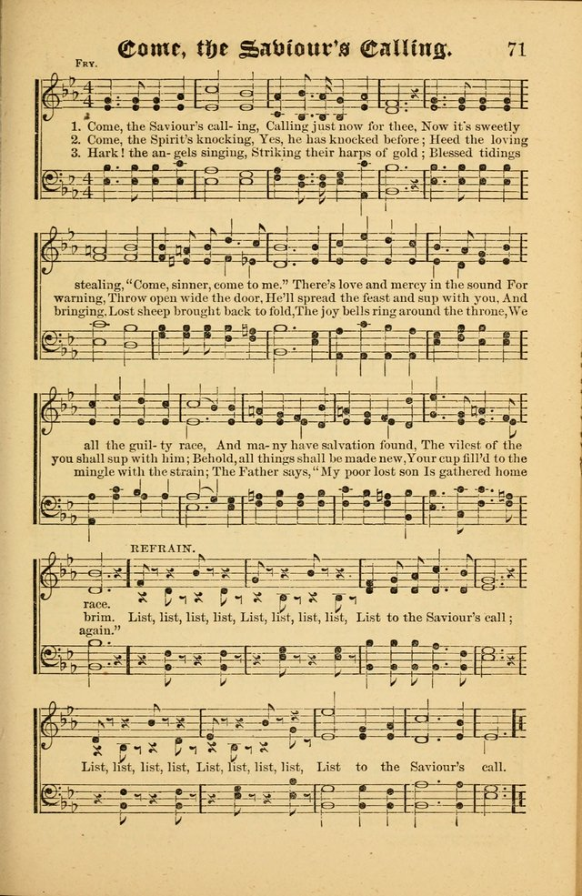 The Revival Wave: A Book of Revival Hymns and Music page 71