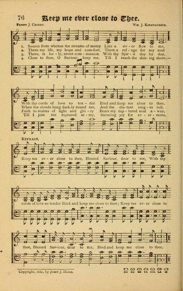 The Revival Wave: A Book of Revival Hymns and Music page 76