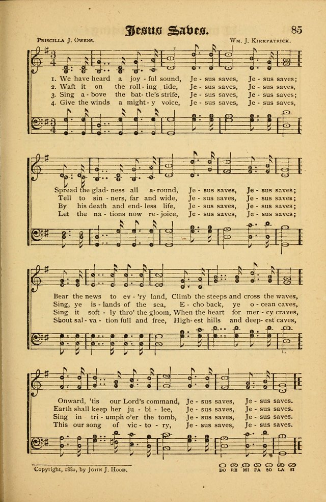 The Revival Wave: A Book of Revival Hymns and Music page 85