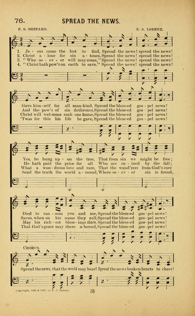 Riches of Grace a Collection of New Songs and Standard Hymns page 78