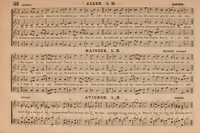 Selah: a collection of psalm and hymn tunes, introits, anthems, chants, motetts, choruses, etc. adapted to the use of classes, private circles, and worship assemblies page 52