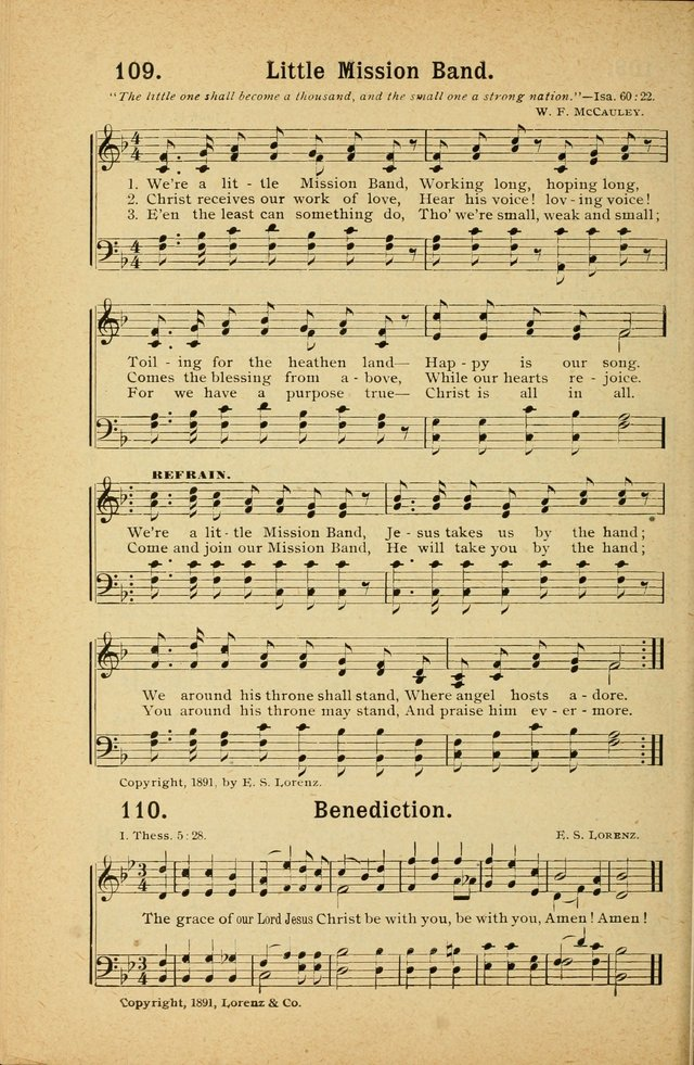 Songs for Christ and the Church: a collection of songs for the use of Christian endeavor societies, sunday-schools, and other church events page 94