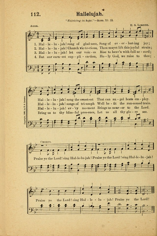 Songs for Christ and the Church: a collection of songs for the use of Christian endeavor societies, sunday-schools, and other church events page 96