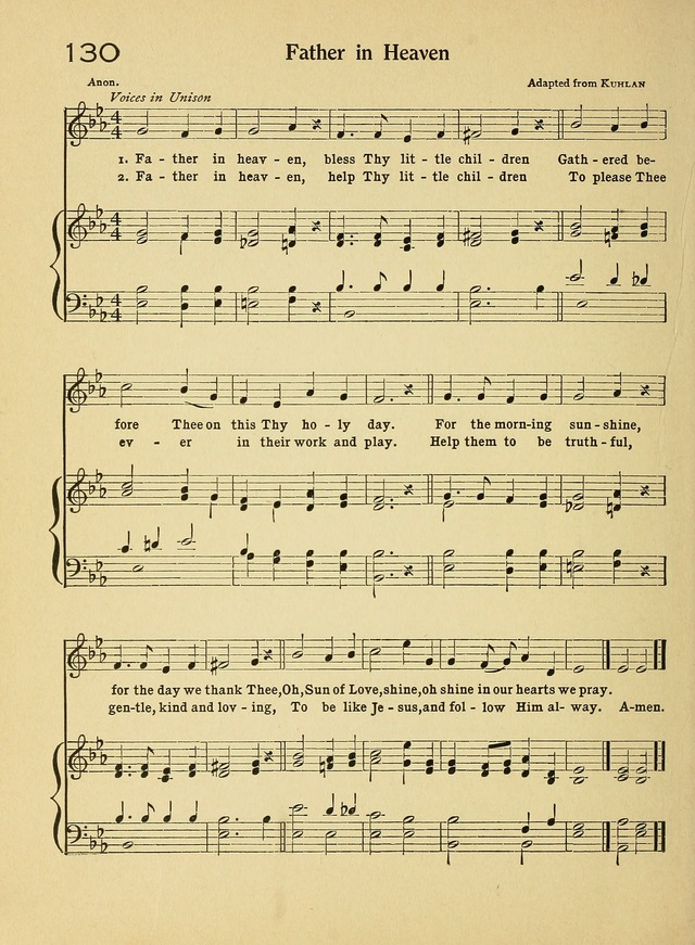 Songs for Sunday Schools and How to Use Them page 130