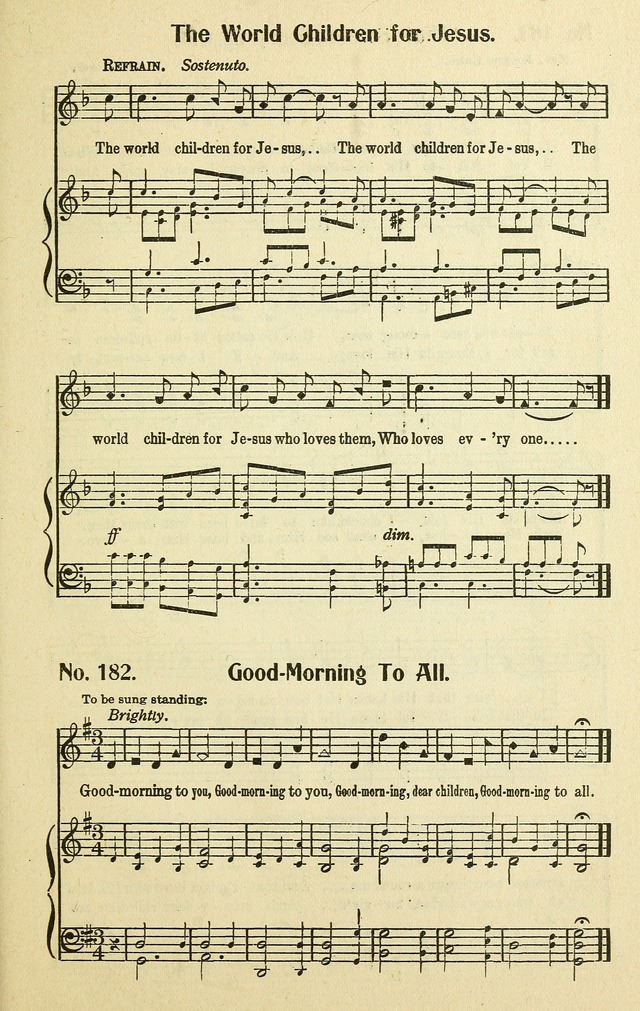 Songs for the Sunday School page 167