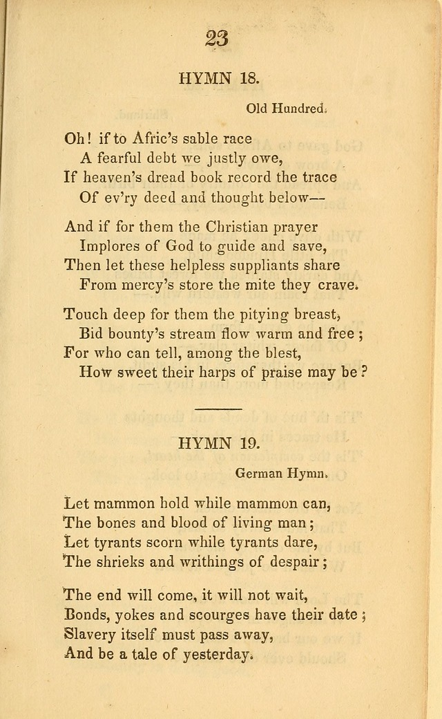 A Selection of Anti-Slavery Hymns: for the use of the friends of emancipation page 15