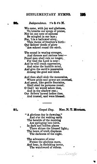 Lyric day n night lyrics : A glorious day is dawning, And o'er the waking - Hymnary.org