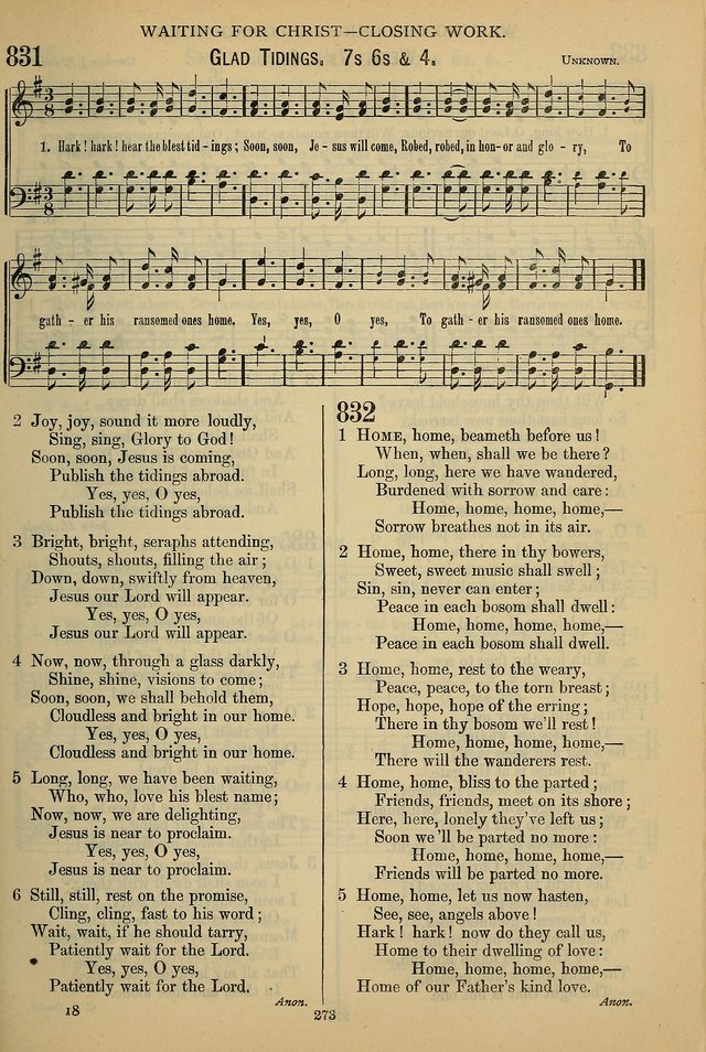 The Seventh-Day Adventist Hymn and Tune Book: for use in divine worship page 273