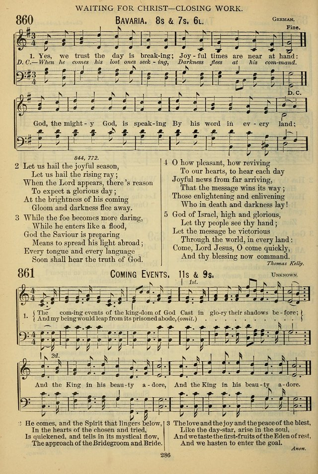 The Seventh-Day Adventist Hymn and Tune Book: for use in divine worship page 286