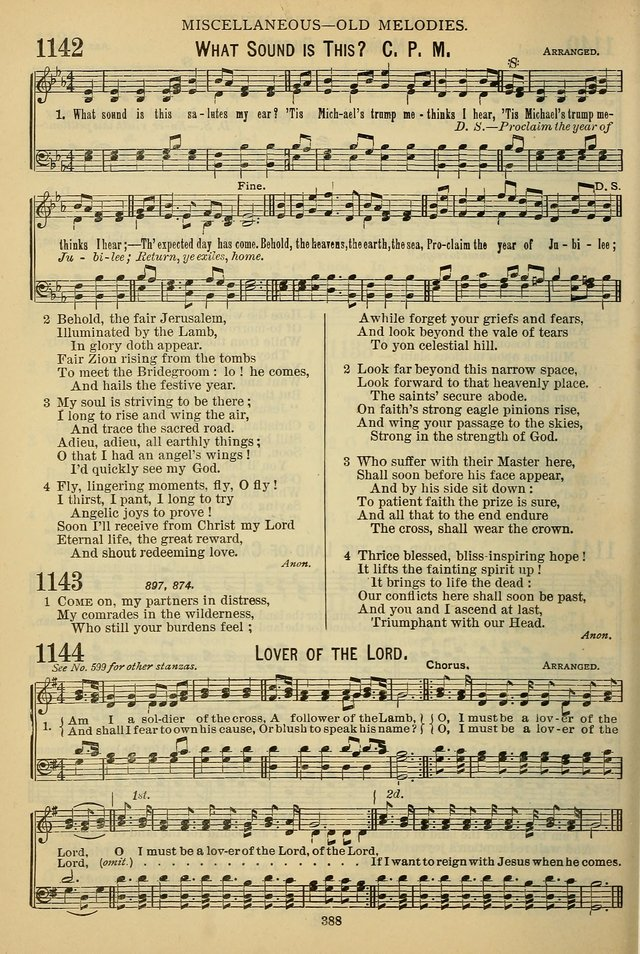 The Seventh-Day Adventist Hymn and Tune Book: for use in divine worship page 388