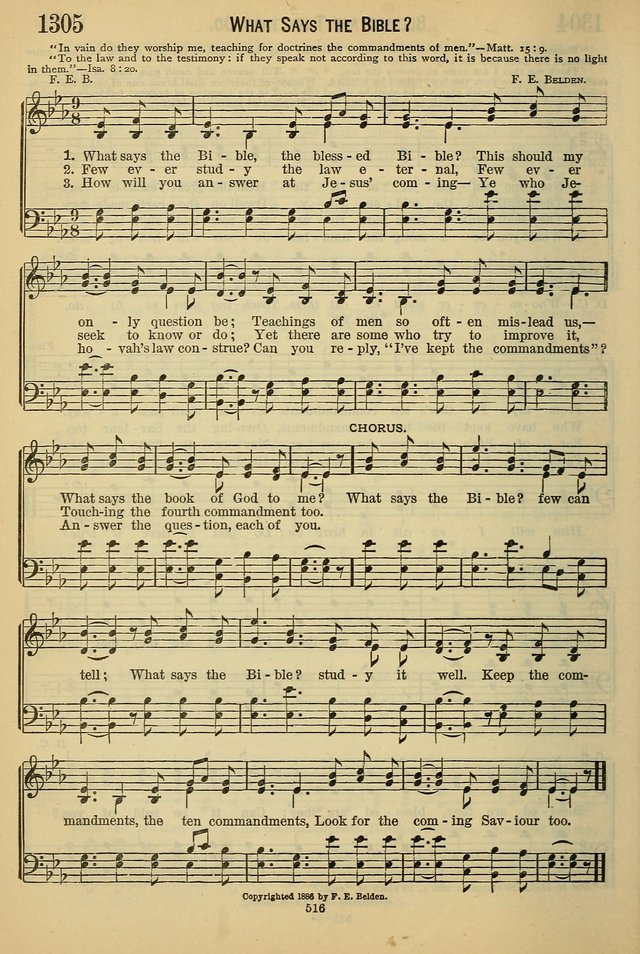 The Seventh-Day Adventist Hymn and Tune Book: for use in divine worship page 516