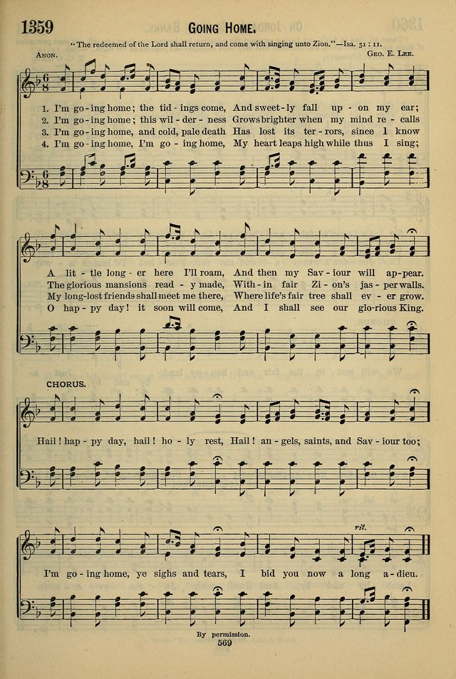 The Seventh-Day Adventist Hymn and Tune Book: for use in divine worship page 569