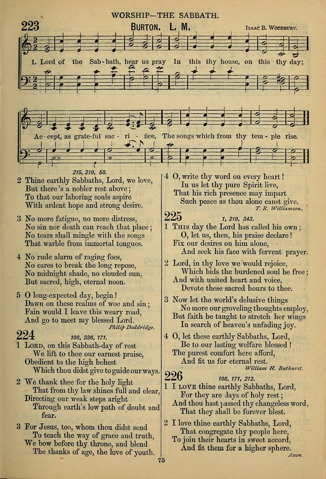 The Seventh-Day Adventist Hymn and Tune Book: for use in divine worship page 75