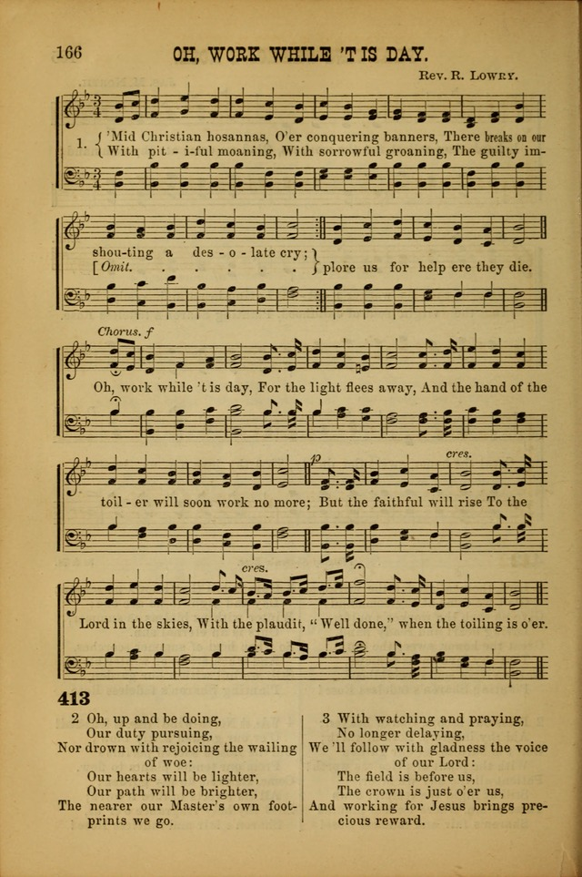 Songs of Devotion for Christian Assocations: a collection of psalms, hymns, spiritual songs, with music for chuch services, prayer and conference meetings, religious conventions, and family worship. page 166