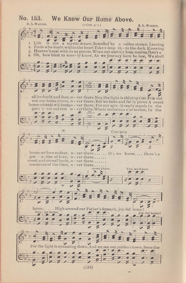 Salvation Echoes: a new collection of spiritual songs; hymning the tidings of full salvation page 154
