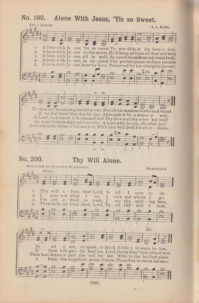 Salvation Echoes: a new collection of spiritual songs; hymning the tidings of full salvation page 200
