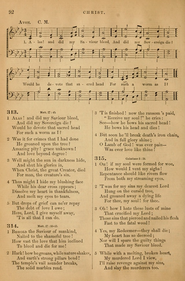 Songs for the Sanctuary: or hymns and tunes for Christian Worship page 93