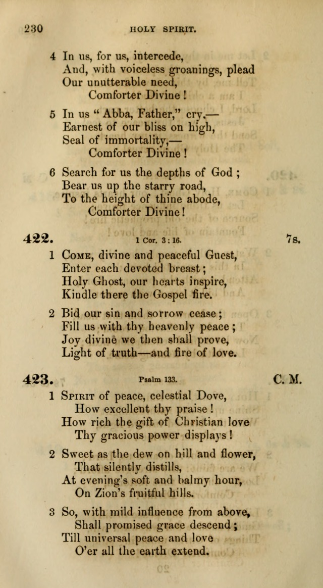 Songs for the Sanctuary; or, Psalms and Hymns for Christian Worship (Words only) page 230