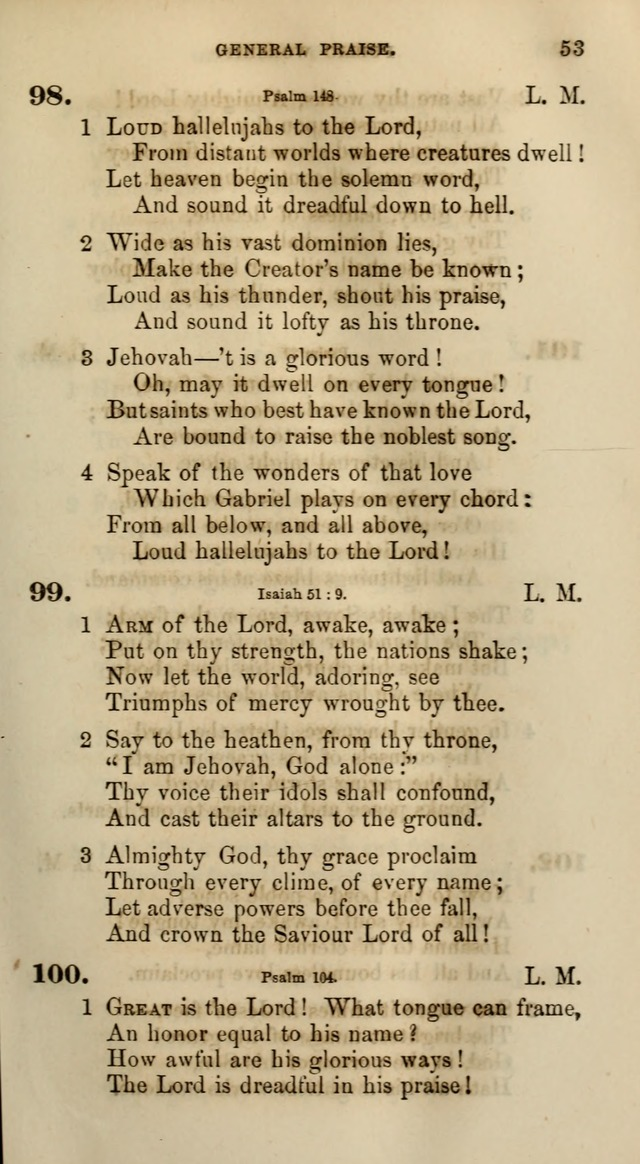 Songs for the Sanctuary; or, Psalms and Hymns for Christian Worship (Words only) page 53