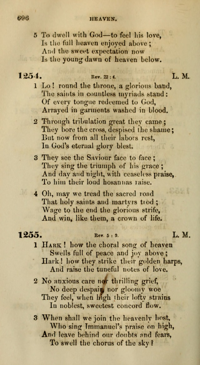 Songs for the Sanctuary; or, Psalms and Hymns for Christian Worship (Words only) page 696