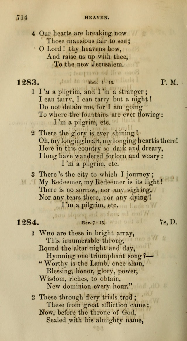 Songs for the Sanctuary; or, Psalms and Hymns for Christian Worship (Words only) page 714