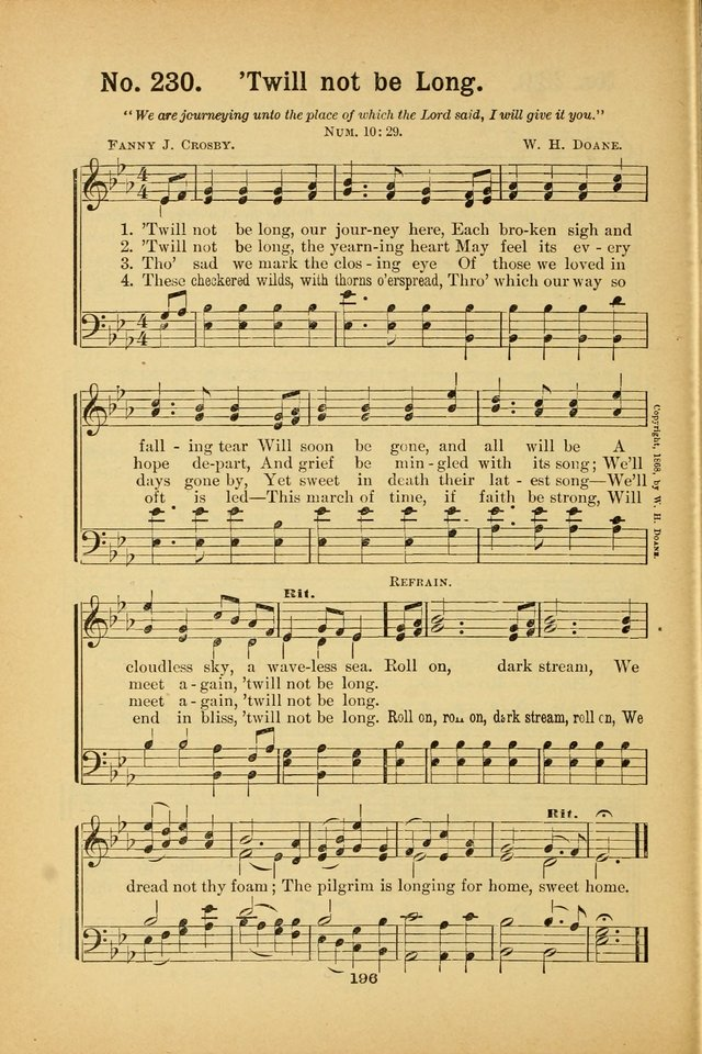 Select Gems: a choice collection of popular hymns and music for use in prayer meetings, the home and Sunday schools page 196