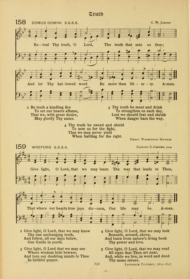 The School Hymnal: a book of worship for young people page 132