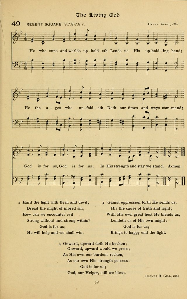 The School Hymnal: a book of worship for young people page 39